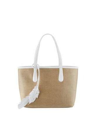 Nancy Gonzalez Erica Small Linen Leaf Tote Bag