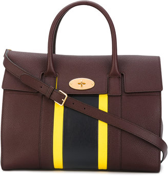 Mulberry stripe panel tote $1,760 thestylecure.com
