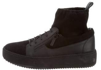 Giuseppe Zanotti Suede High-Top Sneakers