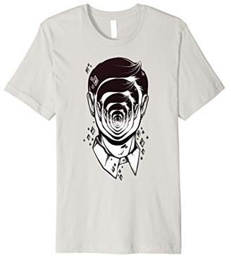 Face with Infinity Mirror Effect Psychedelic T-Shirt
