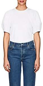 Comme des Garcons Women's Mesh Balloon-Sleeve T-Shirt-White