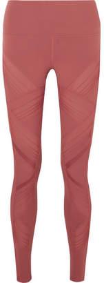 Alo Yoga Moto Mesh-paneled Stretch Leggings - Baby pink