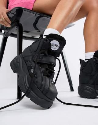 Buffalo David Bitton Classic Hightop Platform Sneakers In Black