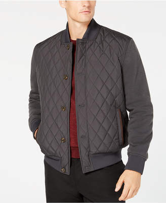 Tasso Elba Men's Quilted Bomber Jacket