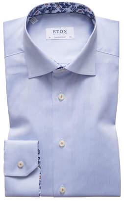 Eton Men's Floral-Facing Contemporary-Fit Dress Shirt