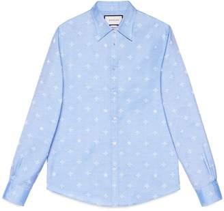 Bee jacquard oxford Duke shirt $720 thestylecure.com