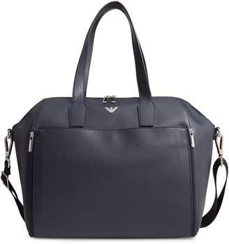 Armani Junior Faux Leather Diaper Bag