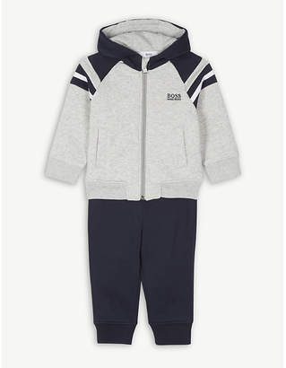 BOSS Hooded cotton-blend tracksuit 6-36 months