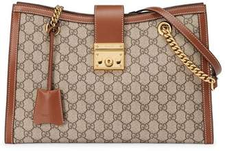Gucci Padlock GG Supreme canvas shoulder bag