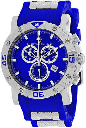 CHRISTIAN VAN SANT Christian Van Sant Mens Blue Strap Watch-Cv0512