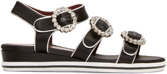 Marc by Marc Jacobs Black & Silver Charlotte Sandals $300 thestylecure.com