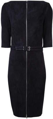 Jitrois velvet belted zip front dress