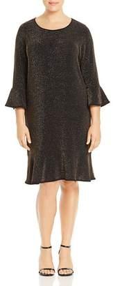 MICHAEL Michael Kors Metallic Flounce Dress