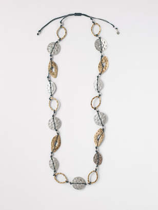 White Stuff Cord Mixed Metal Necklace