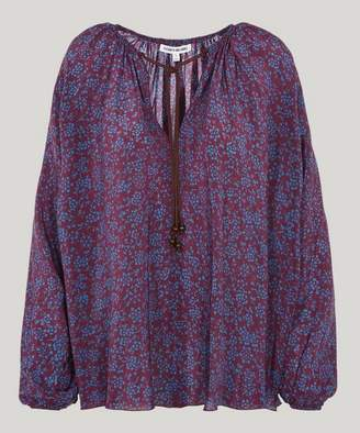Elizabeth and James Chance Printed Silk Blouse