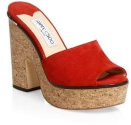 Jimmy Choo DeeDee Cork Platforms