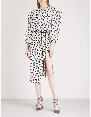 Off-White Monochrome cotton midi dress