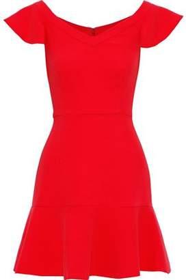 Rachel Zoe Kennedy Fluted Crepe Mini Dress