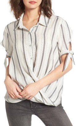 Women's Blanknyc Cross Over Stripe Top $88 thestylecure.com