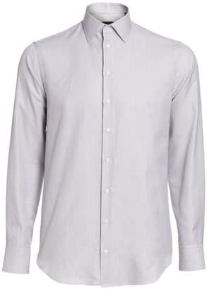 Giorgio Armani Textured Cotton Dress Shirt