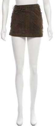 Haute Hippie Suede Mini Skirt