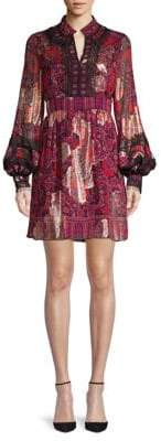 Anna Sui Printed A-Line Dress