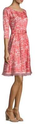 Marc Jacobs Silk Fit-&-Flare Belt Dress