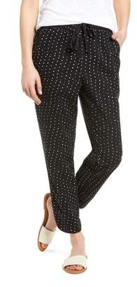 Caslon Pattern Cotton Blend Drawstring Pants