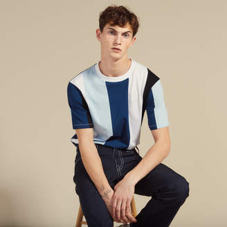 Sandro T-shirt with wide stripes