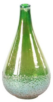 DecMode Decmode Modern 13 X 7 Inch Green Teardrop-Shaped Glass Vase