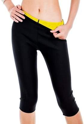 Beauty America New Women's Thermo Slimming Detox Pants Sweat Capri Slimming Pants Leggings Shapewear-M