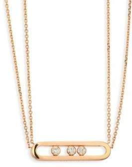 Möve Messika Diamond& 18K Rose Gold Necklace