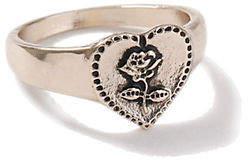 Topshop Rose Gold Heart Ring