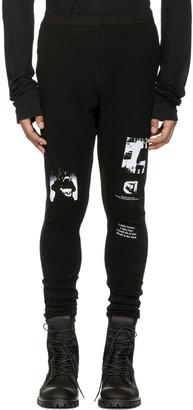Julius Black Printed Lounge Pants $505 thestylecure.com