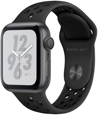 Apple AppleWatch Nike+ Series4 GPS, 40mm Space Gray Aluminum Case with Anthracite/Black Nike Sport Band