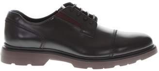 Hogan Black & Burgundy Leather Derby Shoes