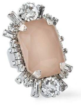 Elizabeth Cole The Eavan Silver-tone, Stone And Crystal Ring