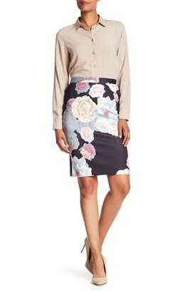 Catherine Malandrino Printed Scuba Skirt
