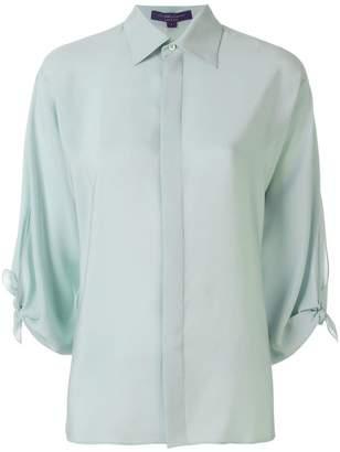 Ralph Lauren bow-sleeve fitted shirt