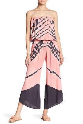 Young Fabulous & Broke YFB by Aviana Printed Strapless Jumpsuit
