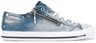 Diesel denim lace up sneakers $140.52 thestylecure.com
