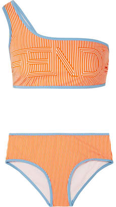 Fendi One-shoulder Printed Bikini - Orange