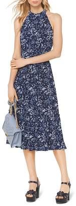 MICHAEL Michael Kors Floral-Print Midi Dress