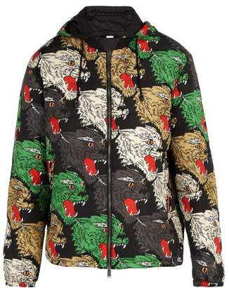 Gucci Panther Face Quilted Hooded Jacket - Mens - Multi