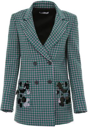 Check Blazer With Sequins