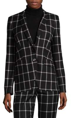 HUGO BOSS Windowpane Check Blazer