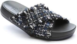 FIGS BY FIGUEROA Figomatic Tweed Slide Sandal