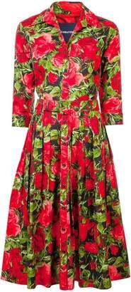Samantha Sung floral shirt midi dress