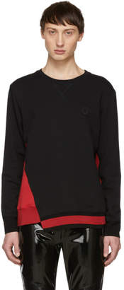 Alexander McQueen Black and Red Panelled Sweatshirt