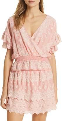 Love Sam Tallulah Embroidered Cotton & Silk Top